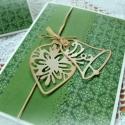 Karácsony zöldben -  2 db képeslap, Karácsonyi üdvözleteid méltó helyen lesznek e...