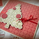 Pöttyös karácsony - 2 db képeslap, Karácsonyi üdvözleteid méltó helyet kapnak ez...