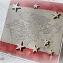 Örömhírt hozó angyalka - 2 db képeslap, Karácsonyi üdvözleteid méltó helyet kapnak ez...