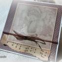 Angyali üdvözlet - 2 db képeslap, Karácsonyi üdvözleteid méltó helyet kapnak ez...