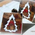 A karácsony akkor szép... - 2 db képeslap, Karácsonyi üdvözleteid méltó helyet kapnak ez...