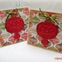 Díszesen - 2 db képeslap, Karácsonyi üdvözleteid méltó helyet kapnak ez...
