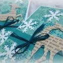 Karácsonyi szarvasok - 2 db képeslap, Karácsonyi üdvözleteid méltó helyet kapnak ez...