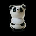 Panda, Baba-mama-gyerek, Játék, Fajáték, Játékfigura, Famegmunkálás, Festett tárgyak, Mérete: 4,5 x 2 cm. A figurák festett fagolyókból készültek, ragasztással, és lakkozással. A figurá..., Meska