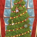 Karácsonyfás adventi naptár, Dekoráció, Ünnepi dekoráció, Karácsonyi, adventi apróságok, Adventi naptár, Patchwork, foltvarrás, Varrás, 52x88cm.   Ezt a karácsonyfát feldíszítheted, mindennap egy dísszel, amit  az aljában lévő zsebekbe..., Meska