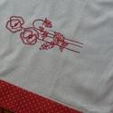 Pipacsos futó , Dekoráció, Otthon, lakberendezés, Lakástextil, Terítő, Varrás, 87x34 cm- es terítő  Cseh anyagból készült géppel hímzett pipacsokkal díszítetett terítő, futó piro..., Meska