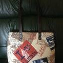 I love London táska, Táska, Válltáska, oldaltáska, 34x30x8cm  Ez a táska a Big Bennel, New York látképével igazi nyári kedvenc lehet! Ha ezt hordo..., Meska