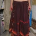 Batikolt szoknya, Ruha, divat, cipő, Varrás, Kézműves termék.készítette Csilla. A képeken látható batikolt szoknya könnyű ,enyhén gyűrt pamutvás..., Meska