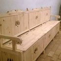 Fedeles pad, Bútor, Pad, Tömörfenyőből, kézzel, hagyományos teknikával készül, Meska