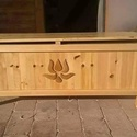 Láda, Bútor, Pad, Tömörfenyőből hagyományos kézműves technikával készül, Meska
