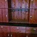 Kredenc, Bútor, Szekrény, Tömörfenyőből hagyományos kézműves technikával készül , Meska