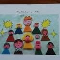 Nap Nándor családja, Játék, Naptár, képeslap, album, Készségfejlesztő játék, Fotóalbum, Baba-és bábkészítés, Fotó, grafika, rajz, illusztráció, Nap Nándor és a családja című verses mesekönyvem  8 oldalas leporelló. A szereplőket filcből készít..., Meska