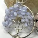 Kék kalcedon életfa medál