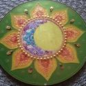 Nap-Hold Mandala, A nap és hold szimbólum erősíti a női és fé...