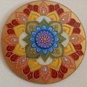 Szivárványos Mandala, Gyönyörű 35 cm-es szivárványos mandala. Akril...