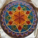 Csillag Mandala, Csillag mandala a csakrasor színeivel festve. A c...