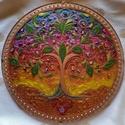 Életfa Mandala, Életfa mandala a naplemente színeivel. Az életf...