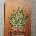 String Art kaktusz minta, Dekoráció, Otthon, lakberendezés, String Art technikával készítettem a kaktuszos képet, aminek az elkészítéséhez gyöngyfonala..., Meska