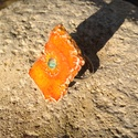 Napsugár gyűrű, Ékszer, óra, Gyűrű, Kerámia, Ékszerkészítés, Narancssárga színű rusztikus kerámia gyűrű. Különleges formájával kecsessé, nőiessé teszi a kezet. ..., Meska