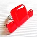 Ferrari piros üveg gyűrű és fülbevaló, üvegékszer szett, Ékszer, óra, Ékszerszett, Fülbevaló, Gyűrű, Ékszerkészítés, Üvegművészet, Élénk tüzes piros gyűrű és bedugós fülbevalók szettben. Minden évszakban, minden alkalomra! Boltomb..., Meska