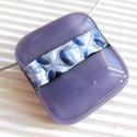 Ezüstös álomsugár üveg medál, üvegékszer, Ékszer, Ékszerszett, Nyaklánc, Medál, Ékszerkészítés, Üvegművészet, Hamvas lila és ezüstös lila dichroic ékszerüvegekből készítettem a medált. Álomszerű, ezüstös holds..., Meska