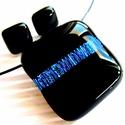 AKCIÓ - Éjkirálynő türkizkékben üveg medál és fülbevaló, üvegékszer szett, 25 % ÁRENGEDMÉNY - a szett eredeti ára 3.490,- ...