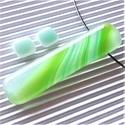 Üde türkiz-zöld elegáns üveg medál és fülbevaló, NEMESACÉL/ORVOSI FÉM, üvegékszer szett, AKCIÓ! - 3 BÁRMILYEN TERMÉK vásárlása eseté...