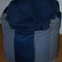 Babzsák fotel, kék-ezüst-szürke, nagy, 82 cm átmérővel, Baba-mama-gyerek, Bútor, Gyerekszoba, Babzsák, Babzsák fotel, kék-ezüst-szürke, nagy, 82 cm átmérővel  Ülőfelület magassága kb. 50 cm, a..., Meska