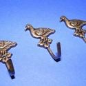 Akasztó-6/A (1 db) - bronz,  Fém akasztó-6/A - liba - bronz színben  Méret...