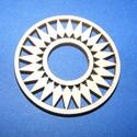 Fa fülbevaló alap (24. minta/1 db),  Fa fülbevaló alap (24. minta) - díszes karika ...