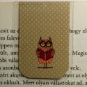 Bagoly mini MÁGNESES könyvjelző 1db, Naptár, képeslap, album, Könyvjelző, Bagoly könyvjelző,bagolymániásoknak.  Ez egy mágneses könyvjelző, amely igen praktikus a kön..., Meska