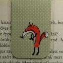 Róka mini MÁGNESES könyvjelző (pöttyös) 1db, Naptár, képeslap, album, Könyvjelző, Fotó, grafika, rajz, illusztráció, Papírművészet, Róka mágneses könyvjelző (pöttyös).  A figura saját tervezésű.   Ez egy mágneses könyvjelző, amely ..., Meska