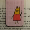Cirmi-mini MÁGNESES könyvjelző 1 db, Naptár, képeslap, album, Könyvjelző, Egy macskalány,MINI mágneses könyvjelző, a figura saját tervezésű.   Ez egy mágneses könyvj..., Meska