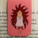 Süni lány-mini MÁGNESES könyvjelző 1 db, Naptár, képeslap, album, Könyvjelző, Fotó, grafika, rajz, illusztráció, Papírművészet, Süni lány,MINI mágneses könyvjelző, a figura saját tervezésű.   Ez egy mágneses könyvjelző, amely i..., Meska