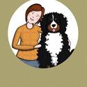 Meseszerű kép, Rólad és a Kedvencedről, Képzőművészet, Illusztráció, Fotó, grafika, rajz, illusztráció, Meseszerű kép, Rólad és a cicádról/kutyádról! Itt az ideje, hogy egy különleges ajándékkal örvendez..., Meska