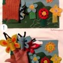 A három pillangó bábkönyv és ujjbábok, Baba-mama-gyerek, Játék, Báb, Társasjáték, Baba-és bábkészítés, Varrás, Az ismert három pillangó mese filc ujjbábokkal eljátszható egy sokoldalú, szintén filcből készült h..., Meska