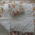 Macis ágynemű szett + AJÁNDÉK tányér alátét, Gyerek & játék, Gyerekszoba, Baba-mama kellék, Falvédő, takaró, Varrás, Kedves, macis mintájú ágynemű szettet készítettem a baba/gyerekágyba. A párna és a takaró is puha f..., Meska