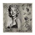 fali kép festő vásznon, Dekoráció, Otthon, lakberendezés, Képzőművészet, Kép, 24x24cm festővászonra Marilyn Monroe dekupázs papírt dolgoztam fel dekupázs technikával. Filmtekercs..., Meska