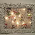 Világítós fali kép, Dekoráció, Otthon, lakberendezés, Kép, Falikép, Gyönyörű mintákkal, képekkel, lámpa fólia dekor anyagokkal díszíthető, igazán egyedi, világítós fali..., Meska