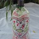 Tölthető szódás üveg, Tölthető szódás üveg népművészeti mintáva...
