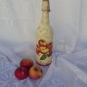 Csatos pálinkás üveg, Férfiaknak, Sör, bor, pálinka, Csatos pálinkás üveg egy liter pálinkának. Ezt az üveget alma pálinkának készítettem, de persze bárm..., Meska