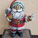 Kerámia mikulás, Dekoráció, Karácsonyi, adventi apróságok, Ünnepi dekoráció, Karácsonyi dekoráció, Kerámia mikulás 30cm. Derékban szétválasztható és jó sok édesség nyalánksággal megtömhető. :)  Örök ..., Meska