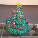 Kerámia karácsonyfa, Dekoráció, Karácsonyi, adventi apróságok, Ünnepi dekoráció, Karácsonyi dekoráció, 40x30cm fehér kerámia karácsonyfa. Örök darab :) jövőre újra az otthonunk dísze lehet. Különlegesen ..., Meska