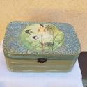 Ékszeres doboz, Dekoráció, Otthon, lakberendezés, Tárolóeszköz, Doboz, Nagyon szép, elegáns 22x14x10cm méretekkel érdekes női alakot ábrázolót ékszeres doboz. Lazúrozva és..., Meska