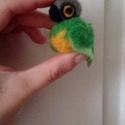 papagáj kulcstartó, Ruha, divat, cipő, Dekoráció, nemez papagáj kulcstartó, Meska
