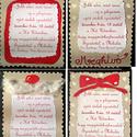 Vicces karácsonyi üdvözlőlap, képeslap, meghívó, Karácsonyi, adventi apróságok, Ajándékkísérő, képeslap, Festészet, Papírművészet, A képeken látható meghívók egy mikulás rendezvényre készültek. Színes kartonokra, vagy újrapapír ka..., Meska