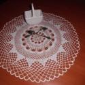 Barbara terítő, Dekoráció, Otthon, lakberendezés, Dísz, Lakástextil, Gyönyörű mintával készült ez a hófehér, légies finomságú terítő. Bármilyen bútordarabon, vagy asztal..., Meska