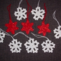 Hópelyhek és csillagok / 10 db./, A karácsonyi fenyőfád ékei lehetnek ezek a mut...