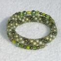Oliva karkötő krlinda részére, 3 színű (olajzöld, beige, halványzöld)4 mm-es...