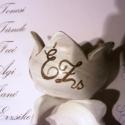 Esküvői köszönetajándék, ültető 10 db/csomag., Esküvő, Otthon, lakberendezés, Esküvői dekoráció, Gyertya, mécses, gyertyatartó, Kerámia, Festett tárgyak, Figyelem! Csak megrendelésre! Elkészülési idő: 4-8 hét!  Esküvői köszönetajándék, teamécsestartó, ü..., Meska
